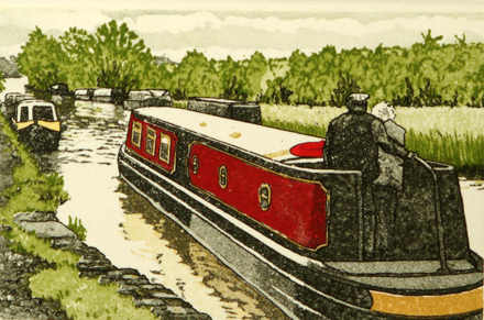Landscape Art - Canal Boats, Crew Mates