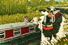 Original Etching Artwork - Jan Dingle - Narrow Boats